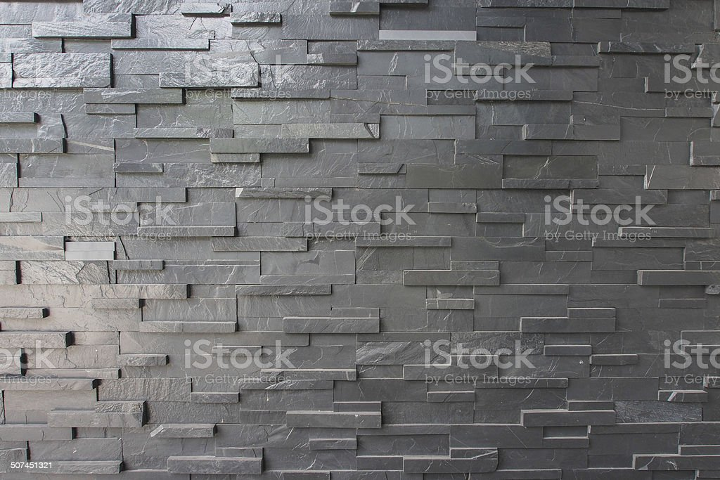 Black Block Stone Wall stock photo