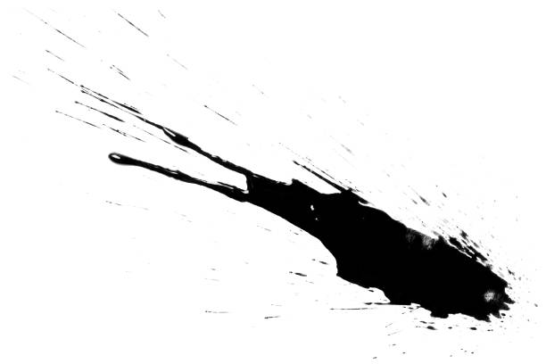 Black blots on white Black blots, isolated on white background splattered stock pictures, royalty-free photos & images