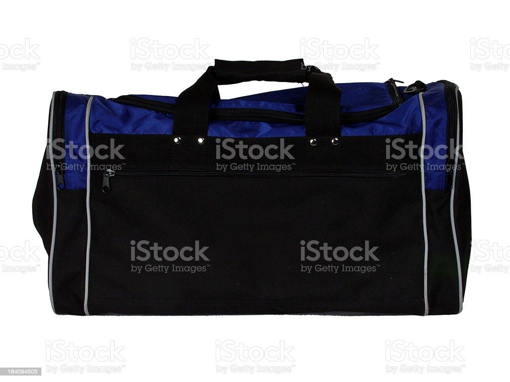 black & blue duffel bag royalty-free stock photo