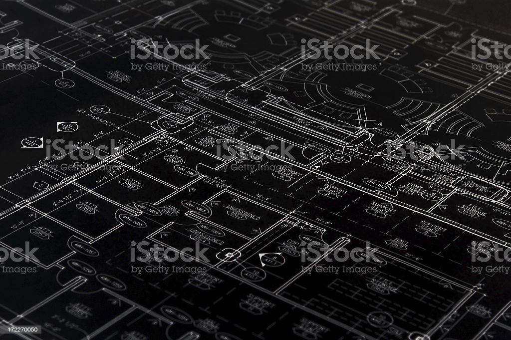 Black Blueprint stock photo