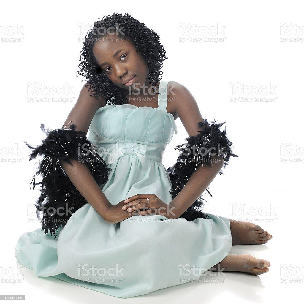Black Boa Beauty royalty-free stock photo