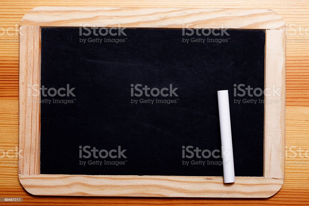 Black Board with chalk stock photo