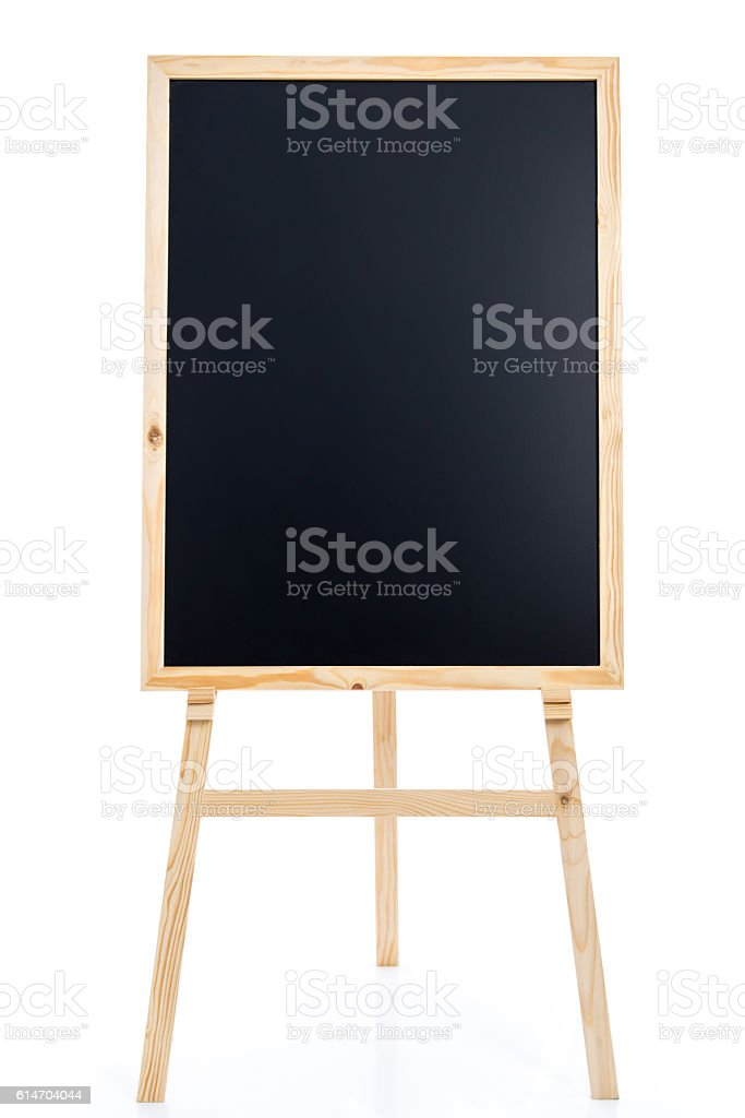 Black board with easel stock photo