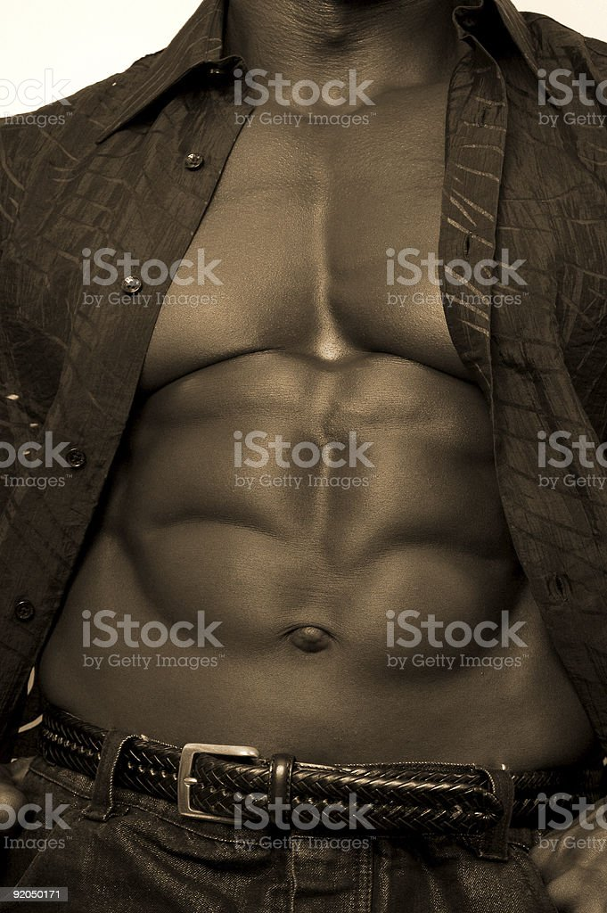 Black Bodybuilder stock photo