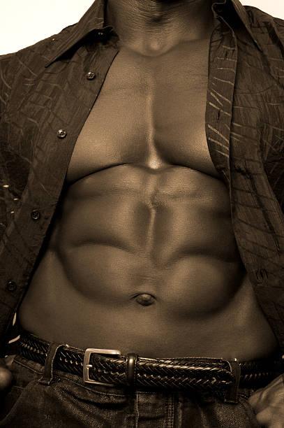 Black Bodybuilder stock photo