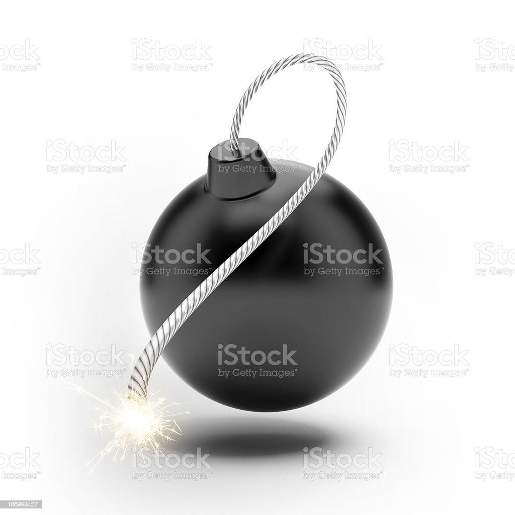 Black Bomb royalty-free stock photo