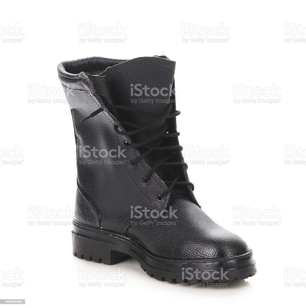 black boots men stock photo