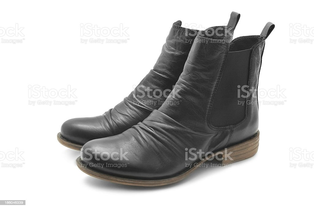 Black boots stock photo