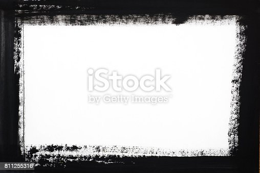 700561460 istock photo black border painted on white paper 811255316