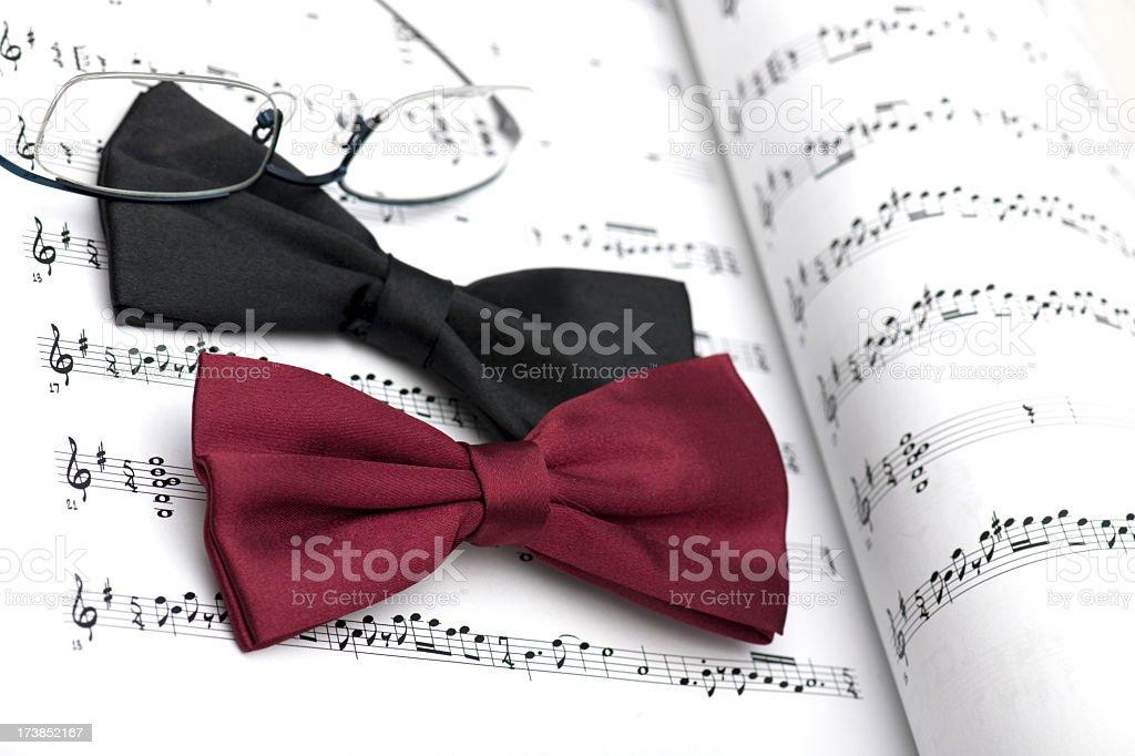 black bow tie royalty-free stock photo
