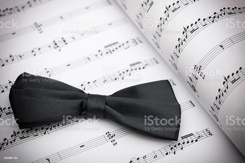 black bow tie royalty-free stock photo