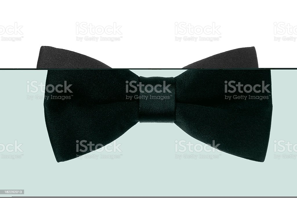 Black Bow Tie stock photo