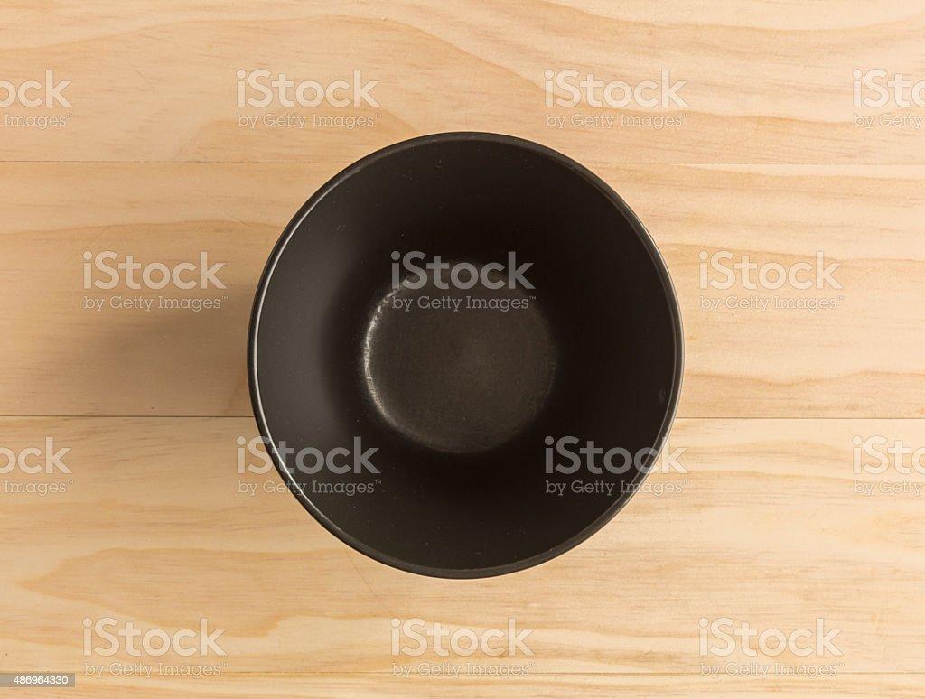 black bowl stock photo
