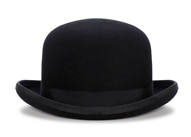 Black Bowler Hat Isolated on White stock photo