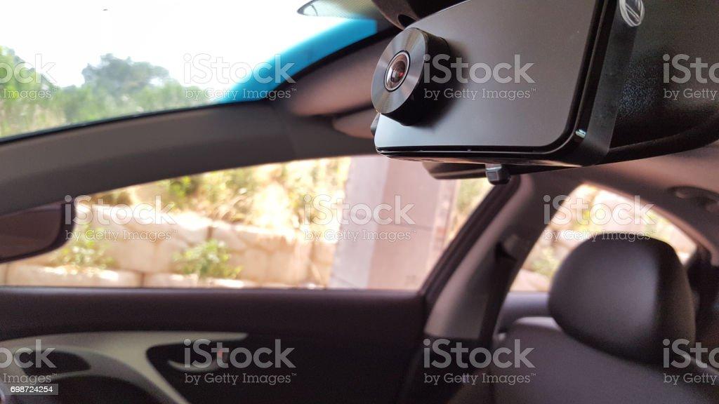 Black box in the car stock photo