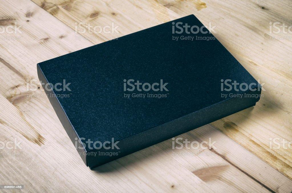 Black box mock up stock photo