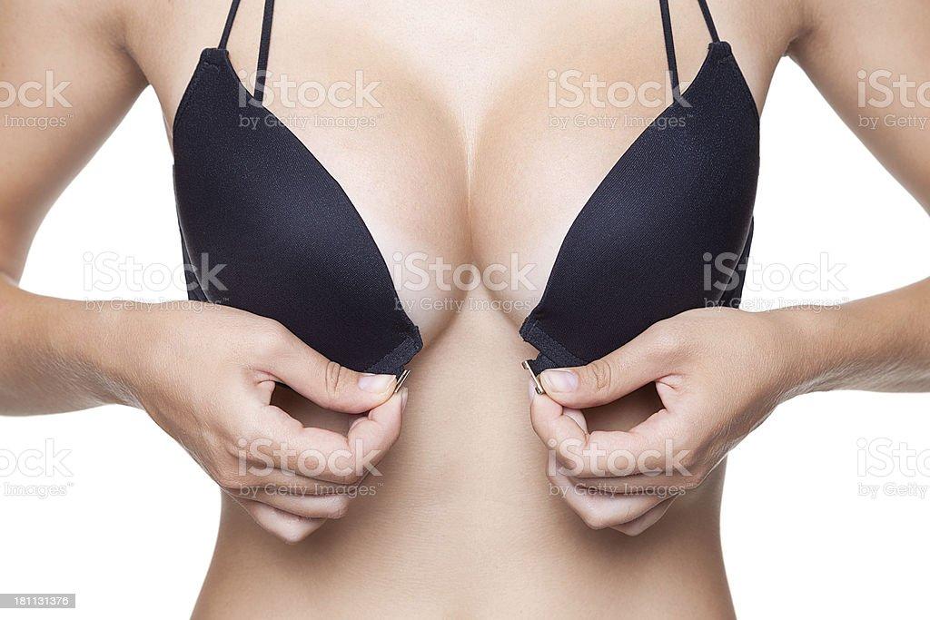 Black bra stock photo