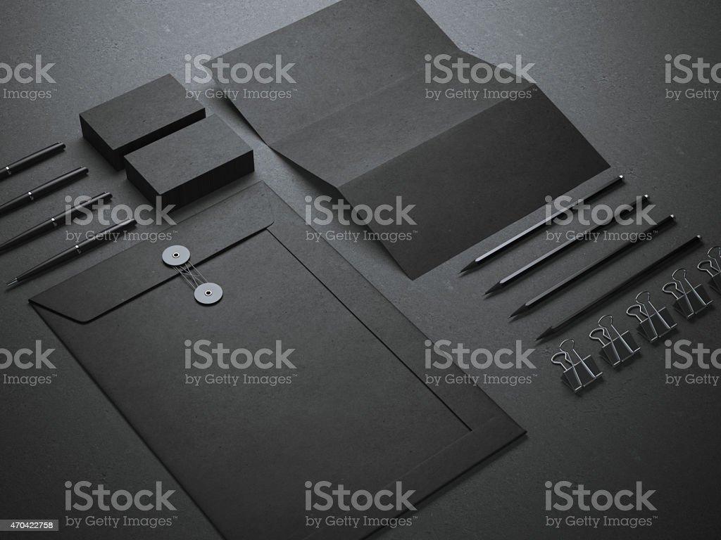 Black branding mockup stock photo
