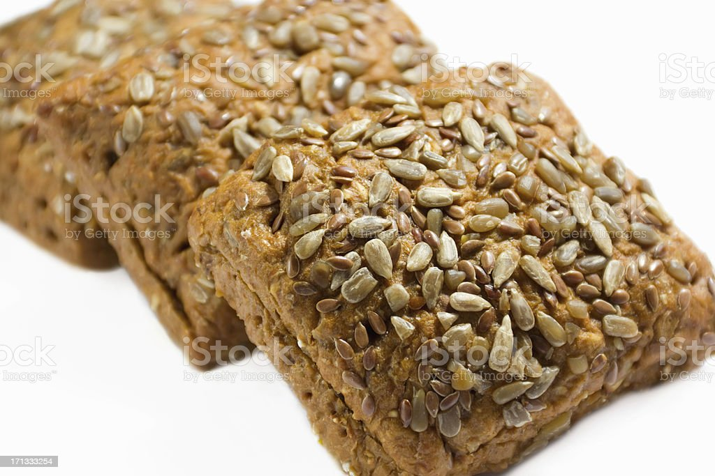 Black bread with sunflower seeds stock photo