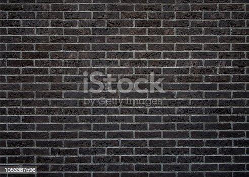 black brick wall background