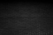 Dark black brick wall on modern house