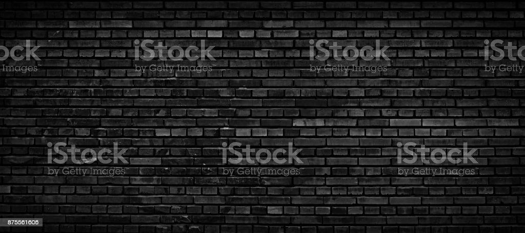 Black brick wall background. stock photo