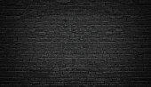 black brick wall background. texture dark masonry