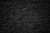 black brick wall, dark background for design