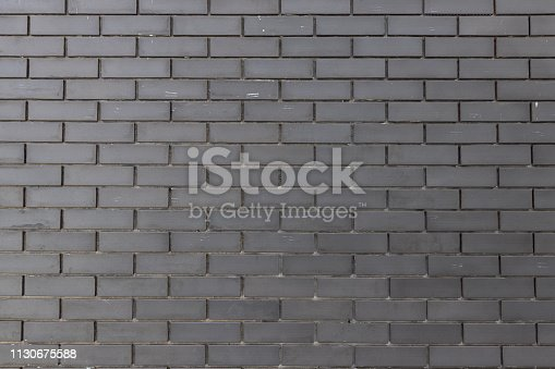 905087856istockphoto black brick wall for texture and background. 1130675588