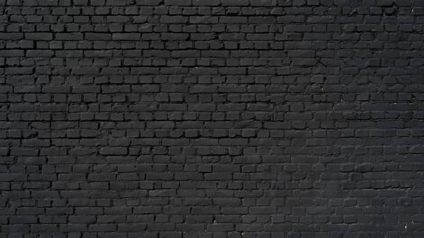 Black brick wall stock photo