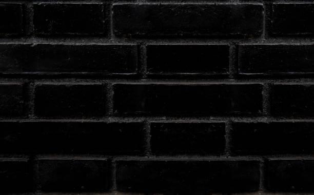 Black brick wall seamless texture stock photo