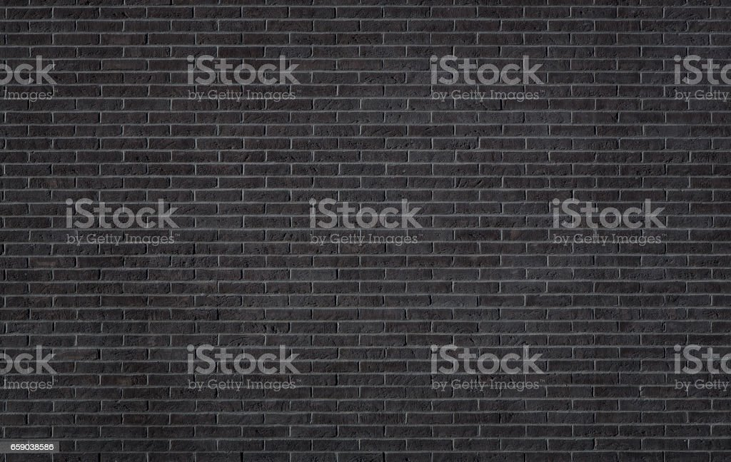 Black brick wall texture stock photo