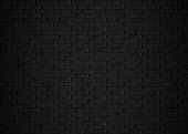 Black bricks 3d rendering