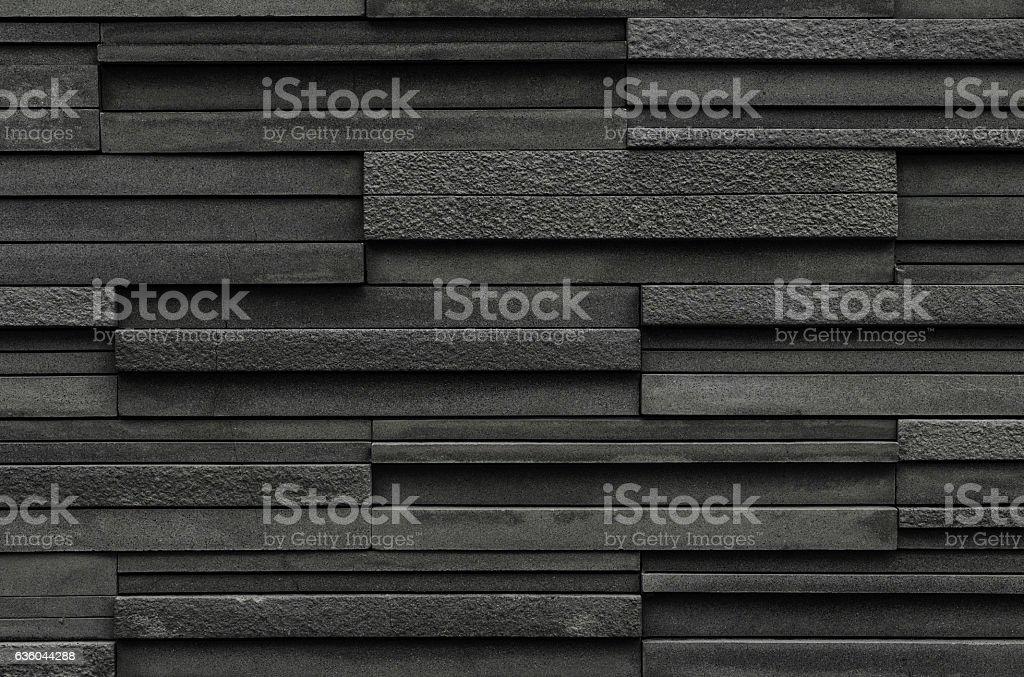 black slate texture. Black Bricks Slate Texture Background, Stone Wall Stock Photo