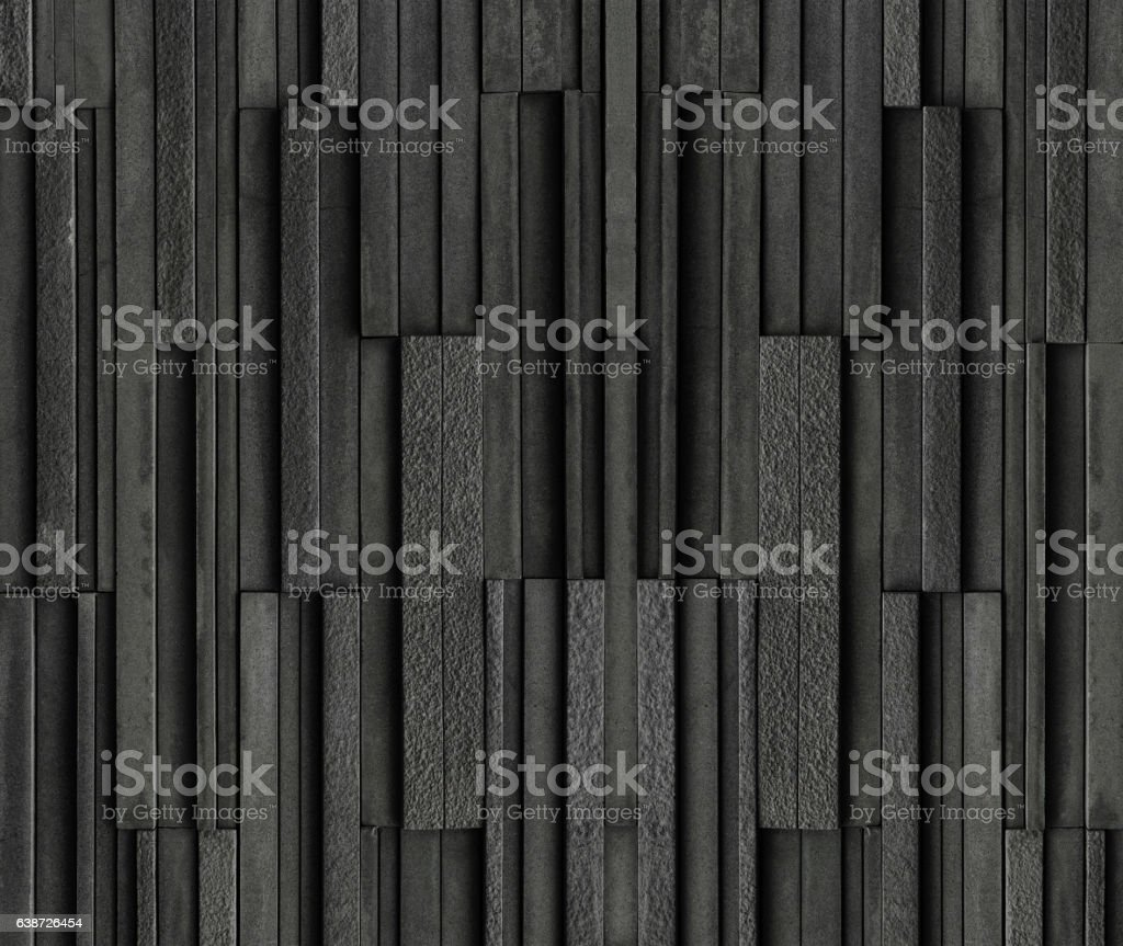 Black bricks slate texture background, slate stone wall texture stock photo