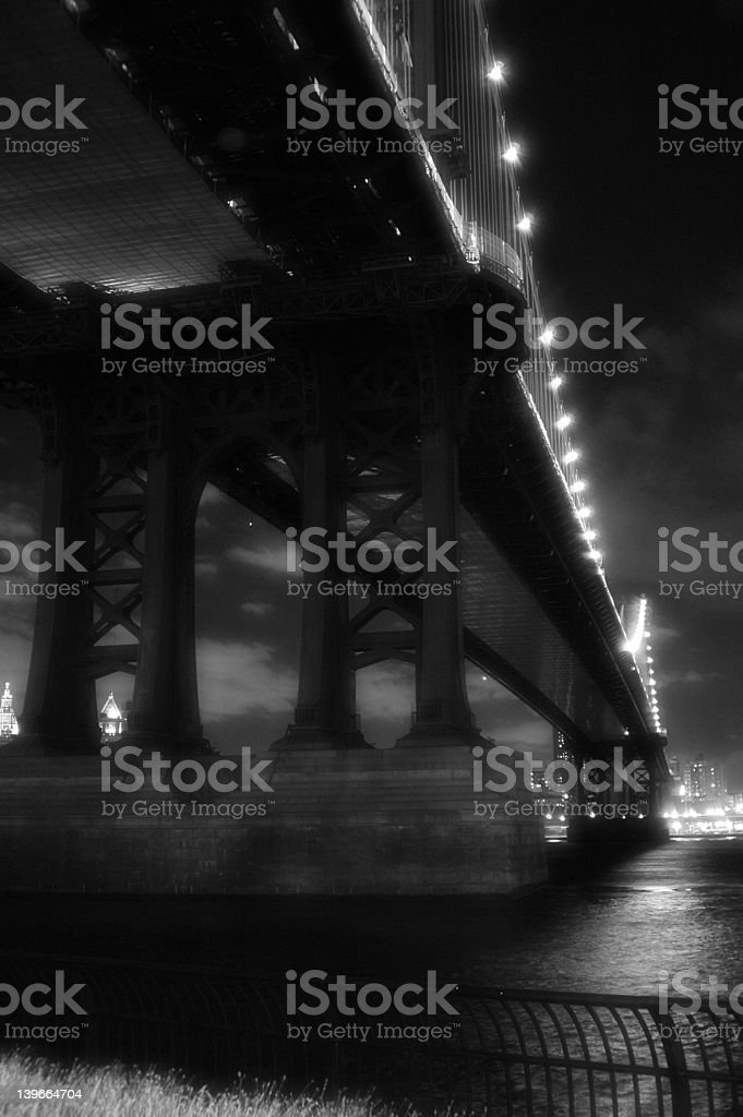 Black Bridge Crossing royalty-free stock photo