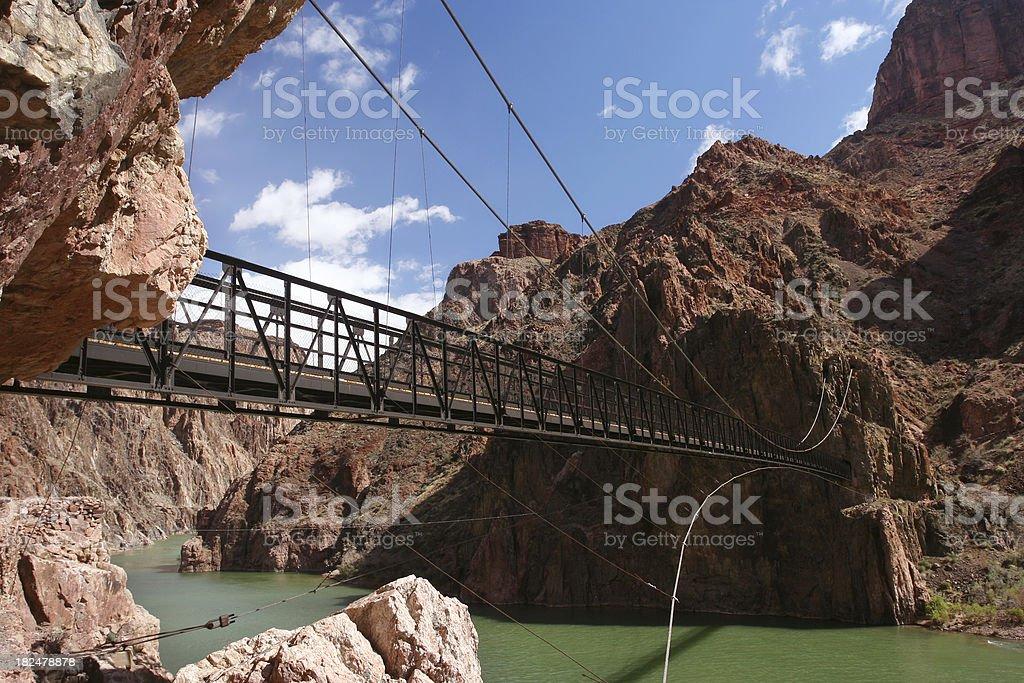 Black Bridge over the Colorado River stock photo