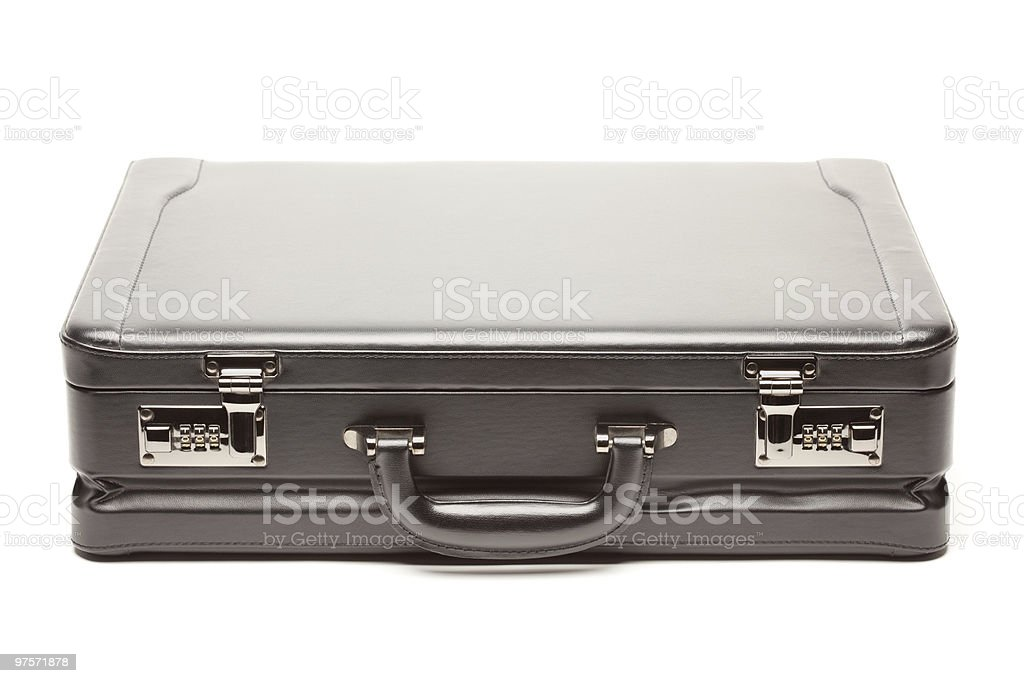 Black Briefcase on White Background royalty-free stock photo