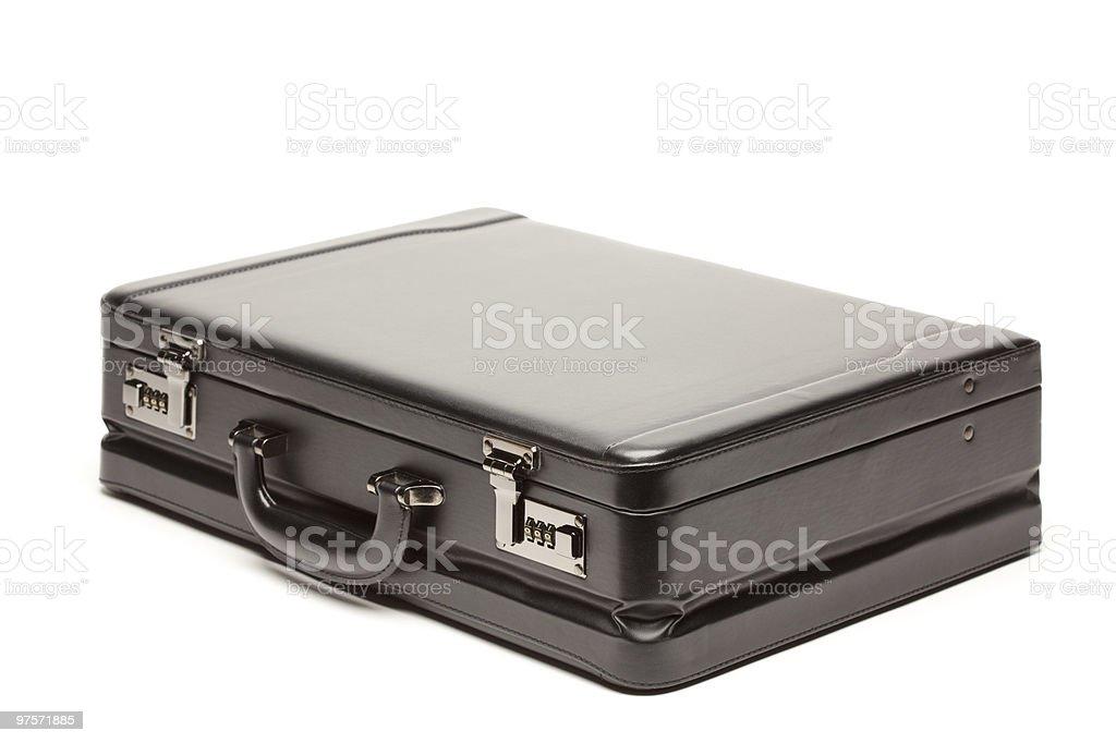 Black Briefcase on White royalty-free stock photo