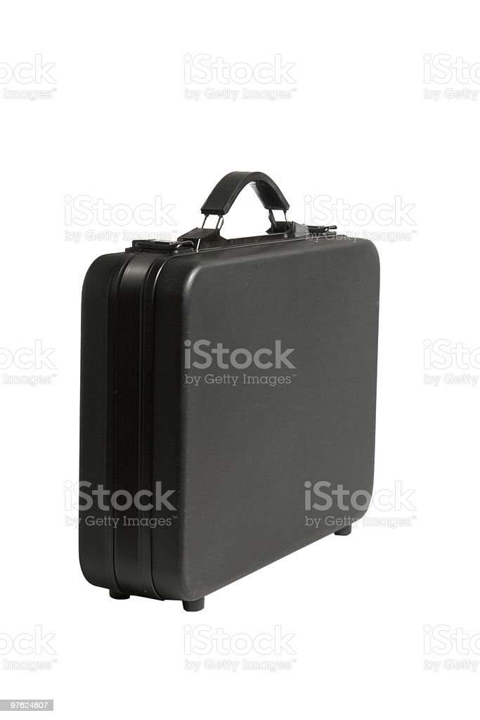 black briefcase royalty-free stock photo