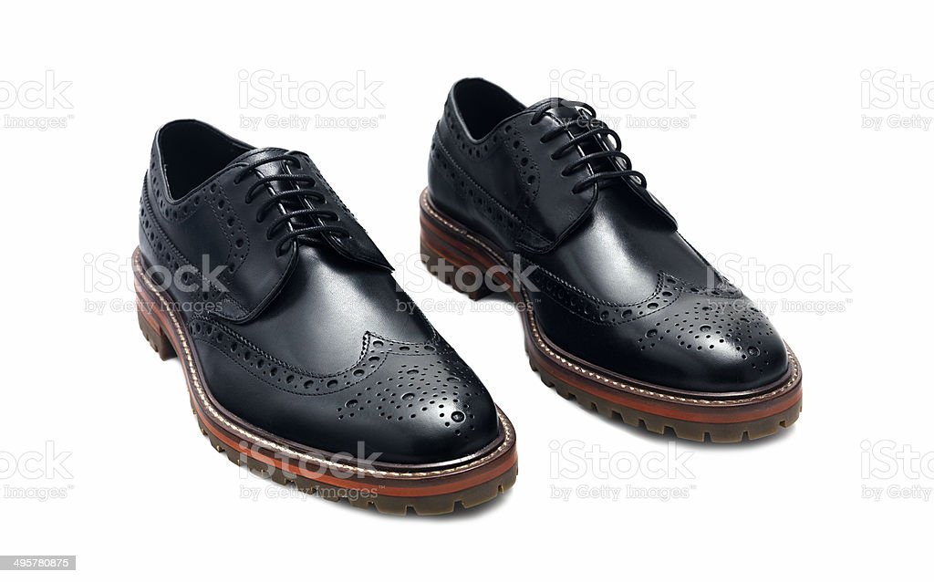Black Brogues stock photo