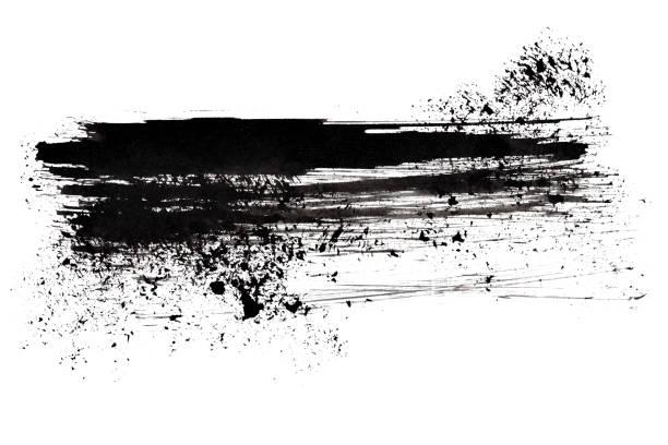 Black brush stroke stock photo