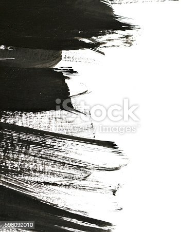 700561460 istock photo black brush strokes on white paper 598092010