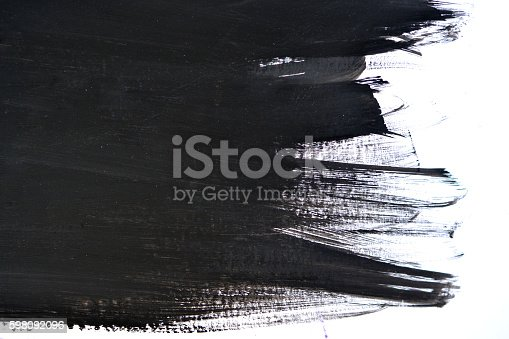 598092096istockphoto black brush strokes on white paper 598092096
