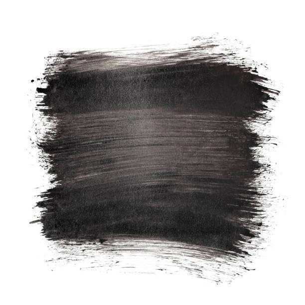 Black brush strokes stock photo