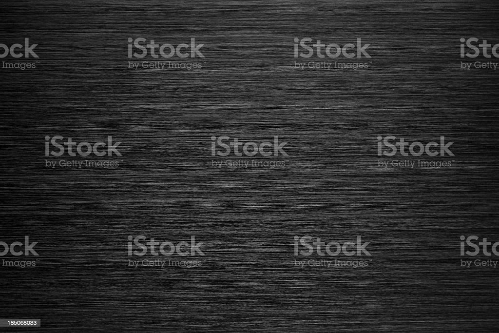Black Brushed Metal Texture stock photo