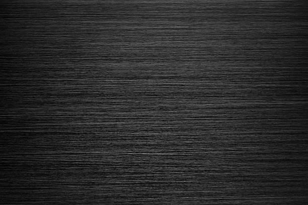 Black Brushed Metal Texture stock photo
