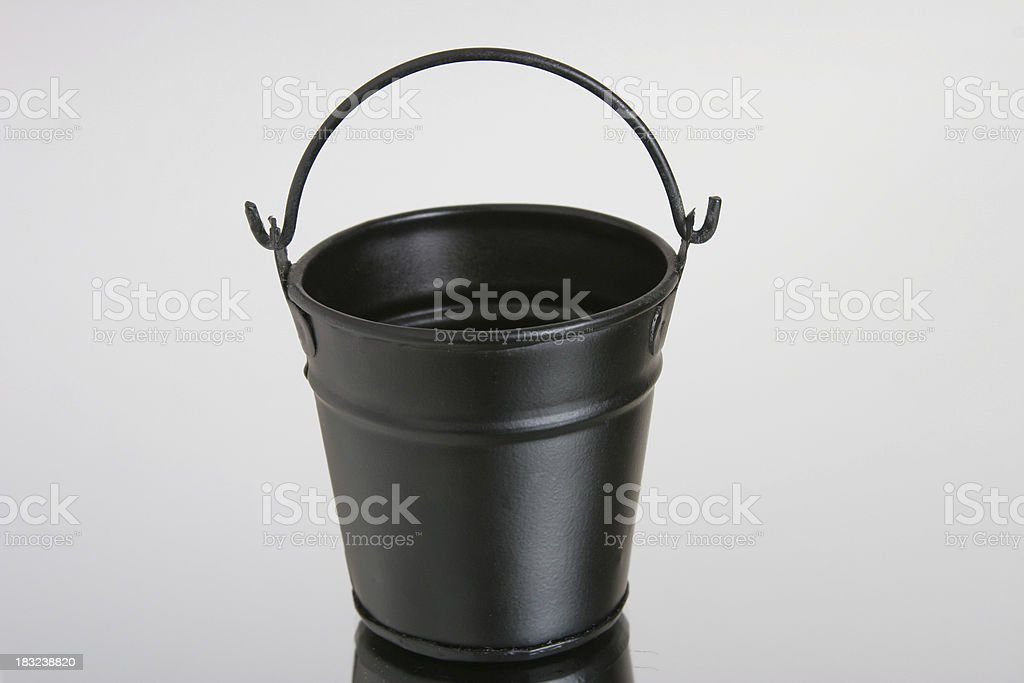 black bucket royalty-free stock photo