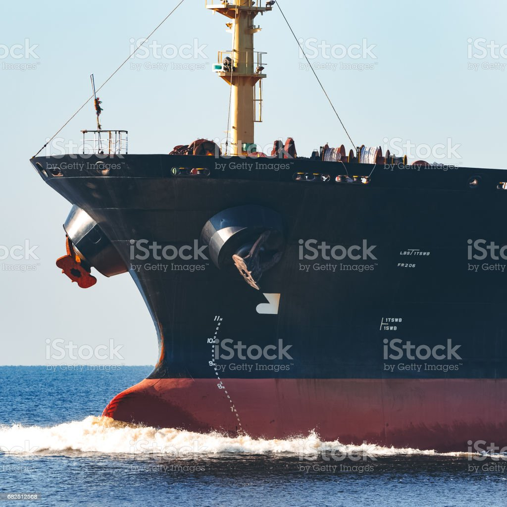 Black bulk carrier Lizenzfreies stock-foto