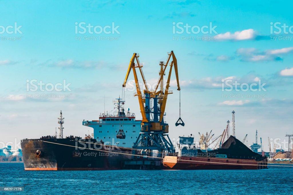 Black bulk carrier royalty-free stock photo